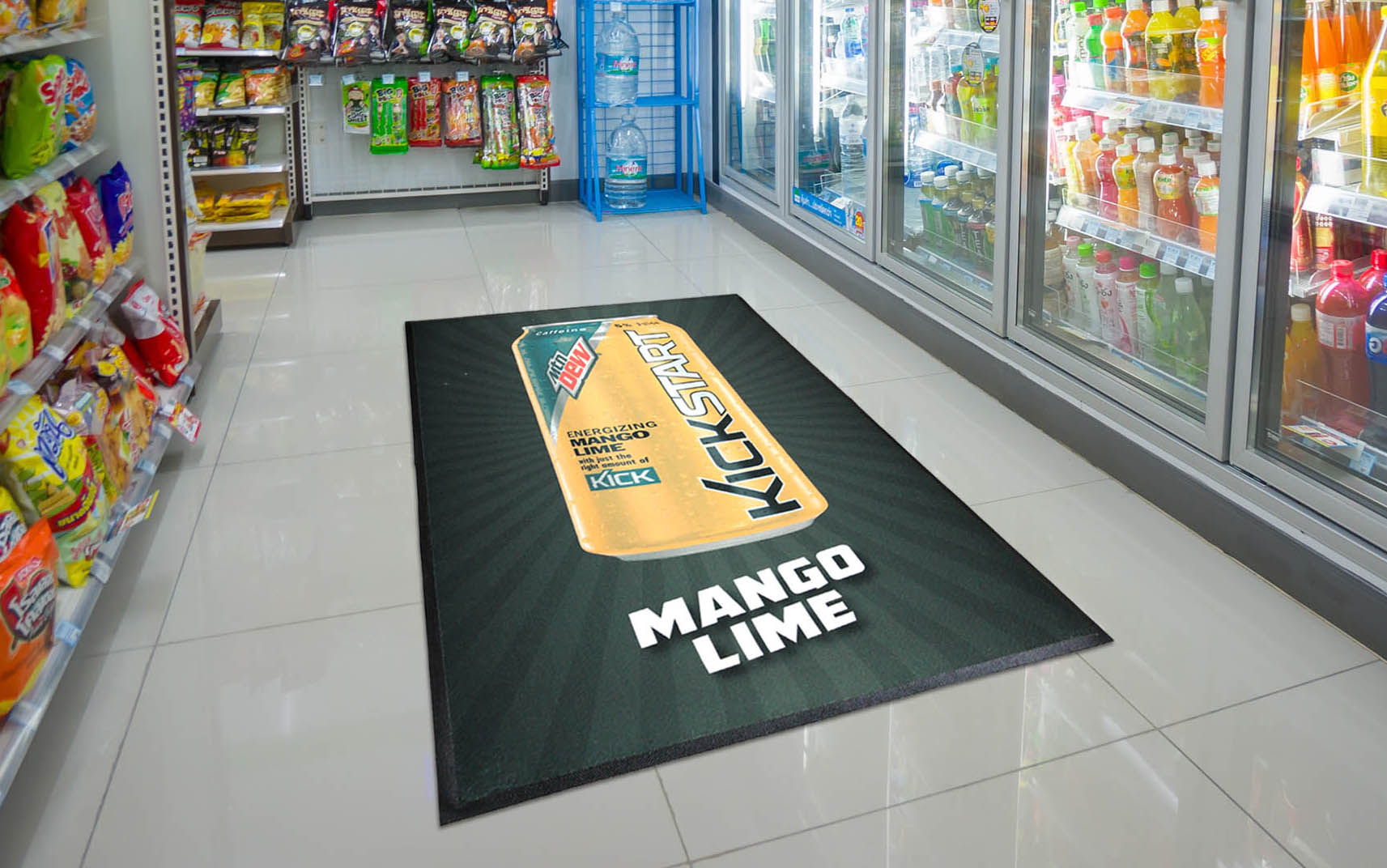 Point of Purchase Mat - Mountain Dew