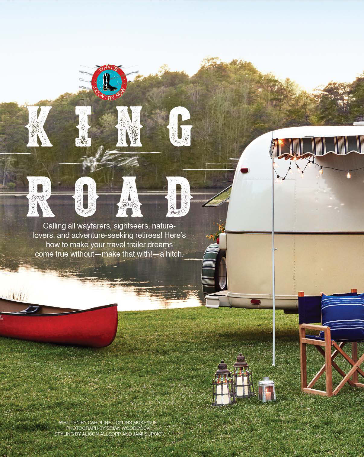 Country Living Magazine Airstream Trailer Floor Magazine Cover