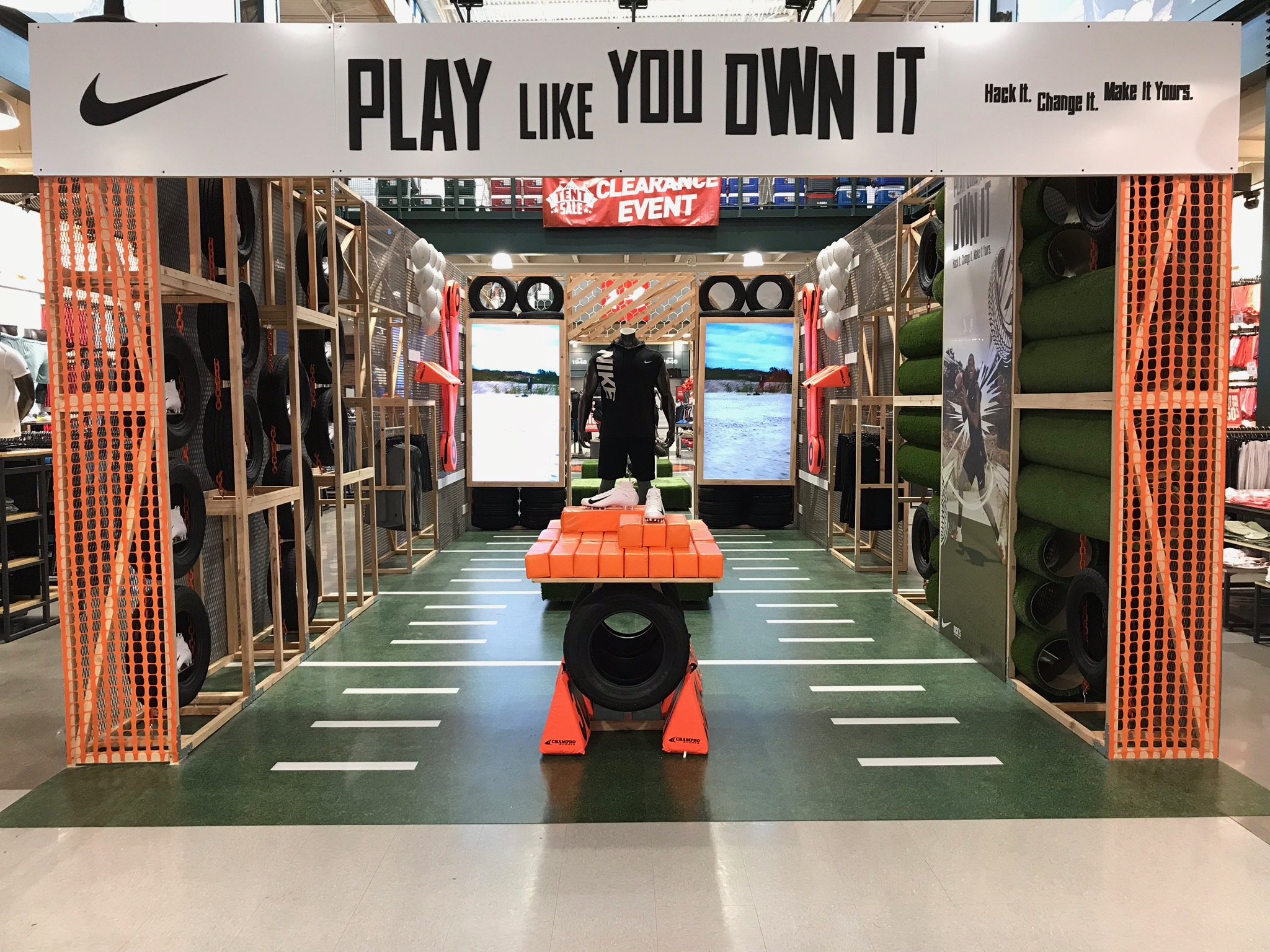 Nike Retail Vinyl Flooring Display